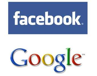 facebook and google