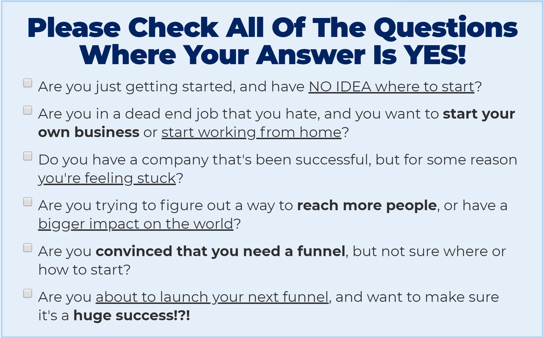 OFA survey questions