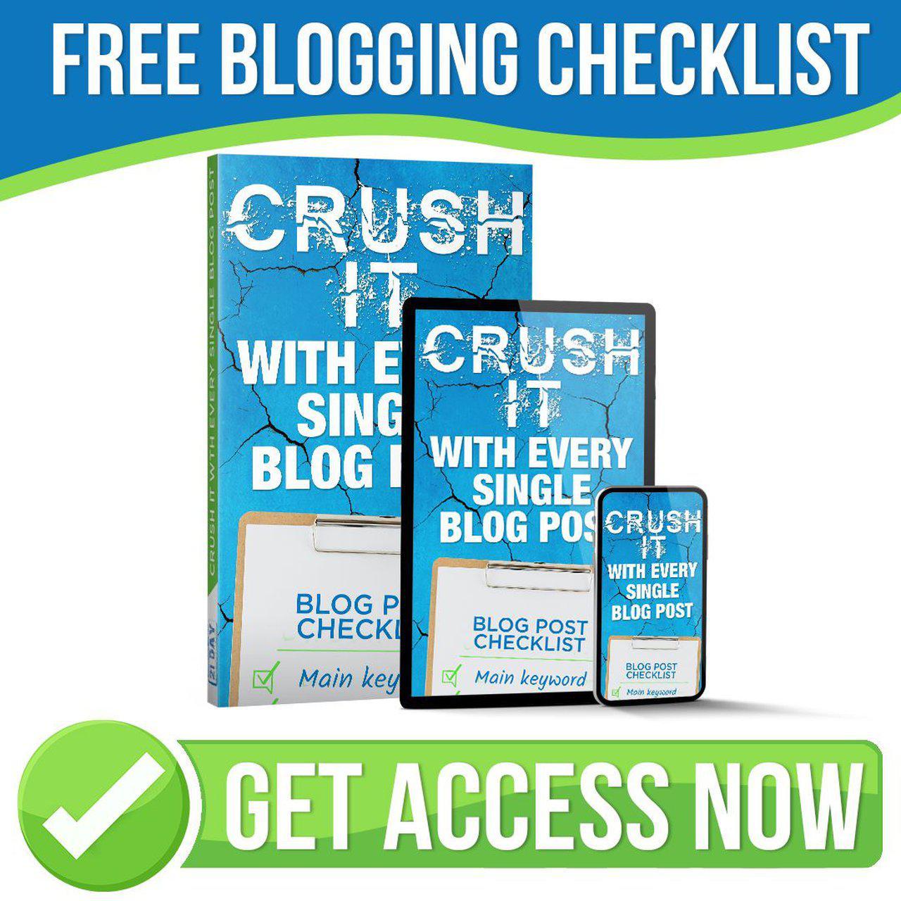 blog challege checklist